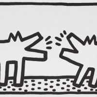 "KEITH HARING, SES ""POP SHOP DRAWINGS"" CHEZ  GLADSTONE"